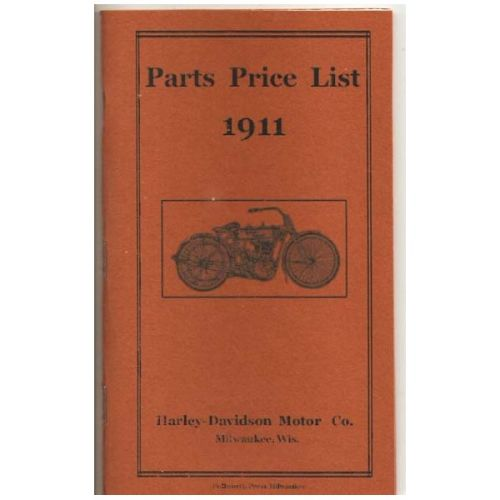 1911 Harley Parts List.