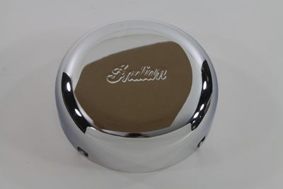 Chrome air cleaner cover with Indian script