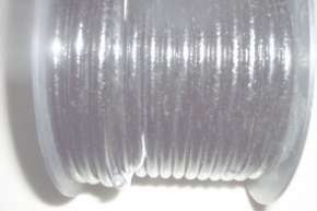 10' cotton braided sparkplug wire Color:Black lacquer finish