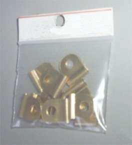 10 flag terminals brass