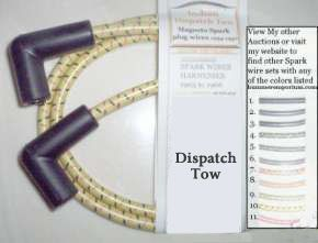 1934 to 1942 Indian Dispatch tow spark plug wires for magneto models