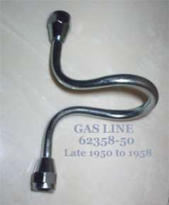 62358-50 Gas line Harley Hummer Late 1950 to 1958