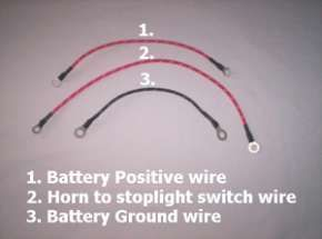 Battery Positive Wire/horn wire/ground