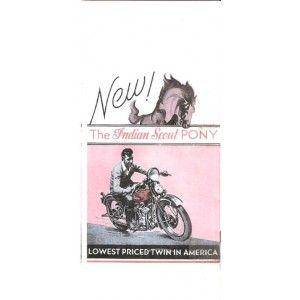 Indian Scout Pony Brochure.