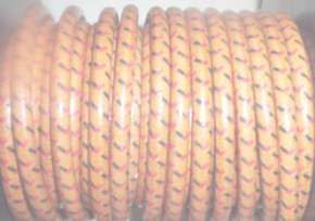 10' cotton braided sparkplug wire Color:Oak/1 blk & 1 red tracer