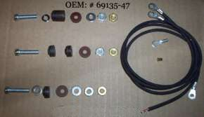 Head lamp,Horn bracket,Fender Lamp wires insulator kit