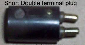Short Double terminal plug no threads