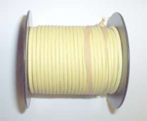 100 foot spool cloth covered wire solid color 18 gauge