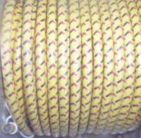 10' cotton braided sparkplug wire Color:Yellow/1 blk & 1 red tracer